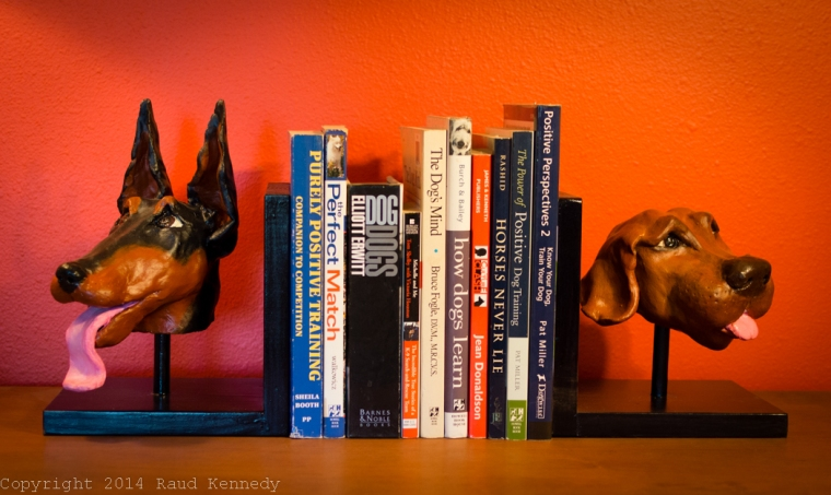 ceramic dog book ends 2
