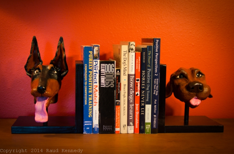 ceramic dog book ends