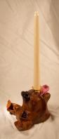 ceramic dog sculpture - candle holder 1