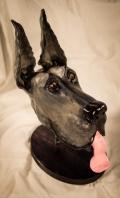 ceramic dog sculpture - great dane 2