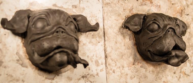 ceramic dog sculpture pug 2