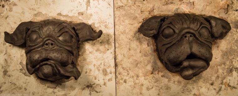 ceramic dog sculpture pug 3