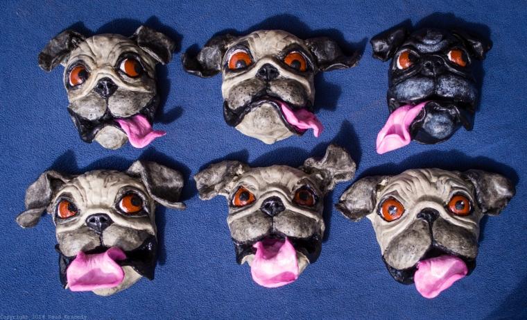 ceramic pugs finished