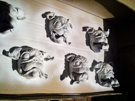 ceramic pugs paint booth