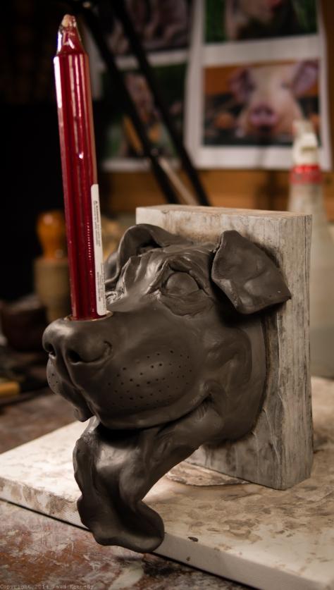 wall mounted dog candle holder 2