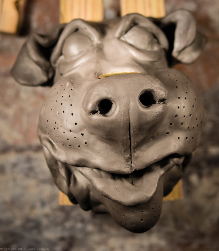 dog sconce for candle 1