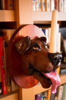 dog candle sconce - brown dog 3