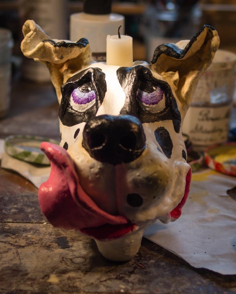 dog candle holder 1