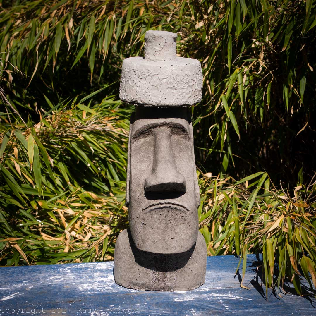 This Guy Was A Pet Project I Wanted To See If I Could Make. Easter Island  Head. Iu0027m Going To Stick A Few Of These In My Garden Tilted This Way And  That.